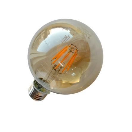 Lampe filament G95 base E27 8W Lumière Jaune (3000k)