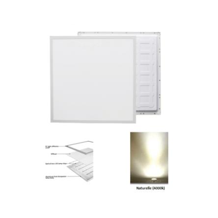 Dalle carre LED QH encastrable 48W 59,5cm*59,5cm Lumiere Naturelle (4000k)