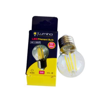 Lampe sphérique LED  filament G45 base E27 4W Lumière blanche (6500k)