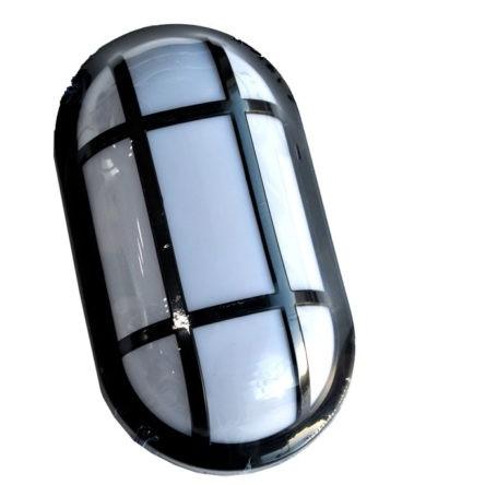 Applique murale/plafond LED oval noir IP54 20W Lumière blanche (7000k)