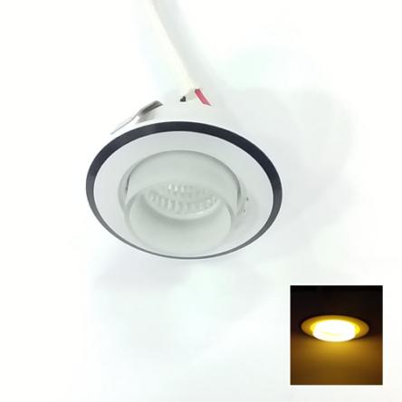 Spot Niche LED Rond Encastrable 3W Lumière Jaune (3000)