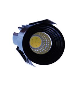 Spot Niche LED Rond Noir Encastrable 3W Lumière Jaune (3000K)