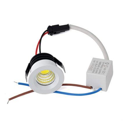 Spot Niche LED Rond Encastrable 3W Lumière Jaune (3000K)