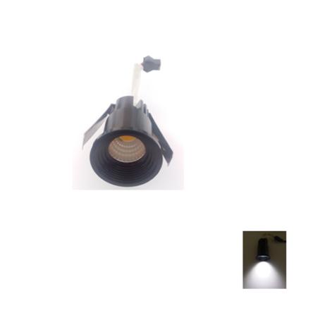Spot Niche LED Rond Noir Encastrable 3W Lumière Blanche (6500)