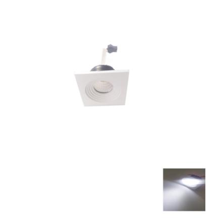 Spot Niche LED Carré Encastrable 3W Lumière Blanche (6500K)
