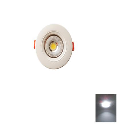 Spot LED Encastrable – 3W Rond Down Light COB – Lumière Blanche (6500k)