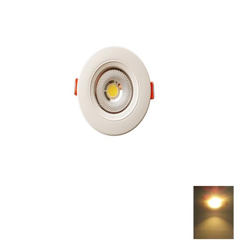 Spot LED Encastrable – 3W Rond Down Light COB – Lumière Jaune (3000k)